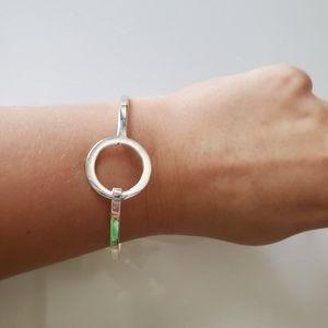 Sterling Silver 925 Bracelet loop circle cuff
